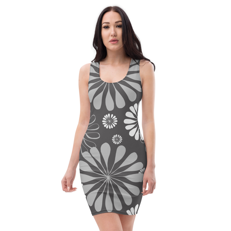 AHoney Floral Stencil Sublimation Cut & Sew Dress