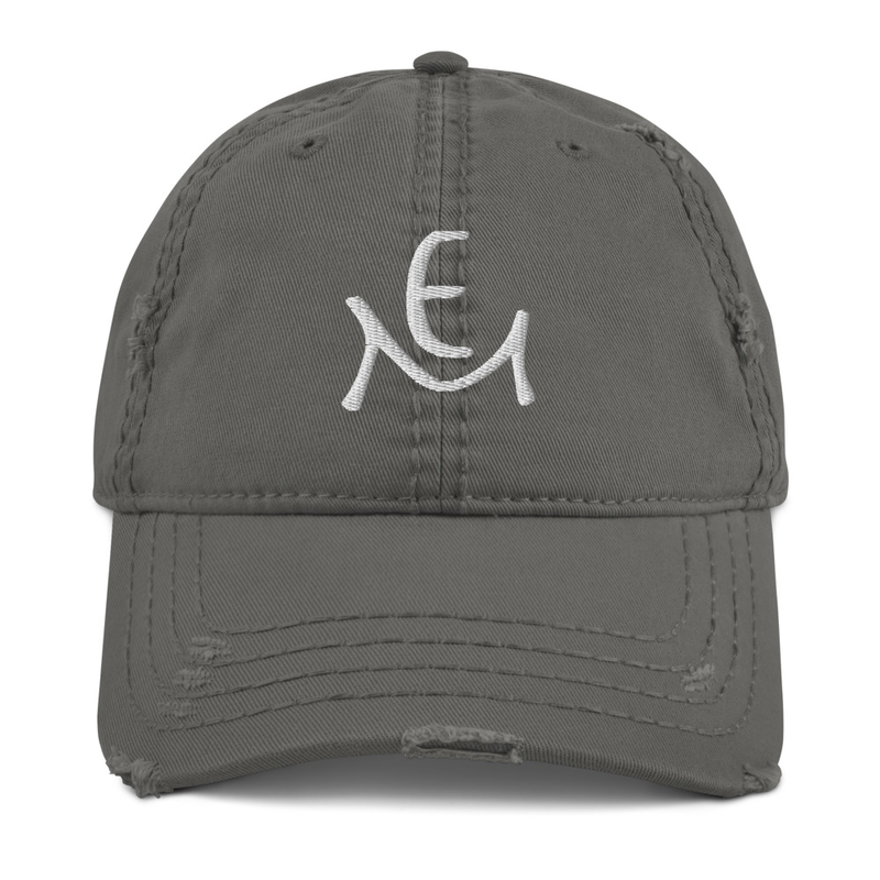 Distressed Dad Hat with Logo