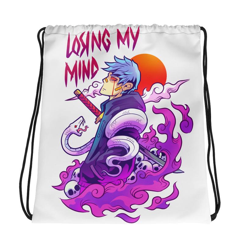 Losing My Mind Drawstring bag