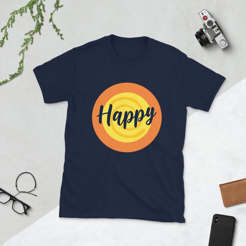 Happy Short-Sleeve Unisex T-Shirt