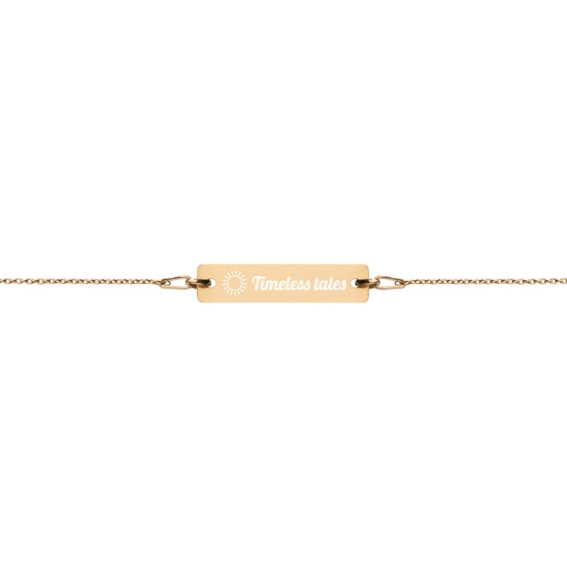 Timeless Tales Engraved Chain Bracelet