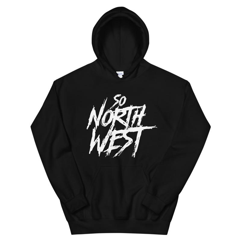 So North West White Logo Unisex Hoodie