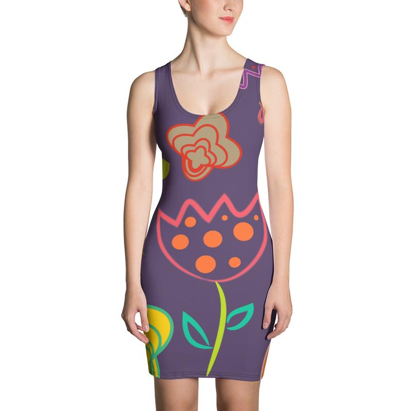 AHoney Flower Luv Sublimation Cut & Sew Dress