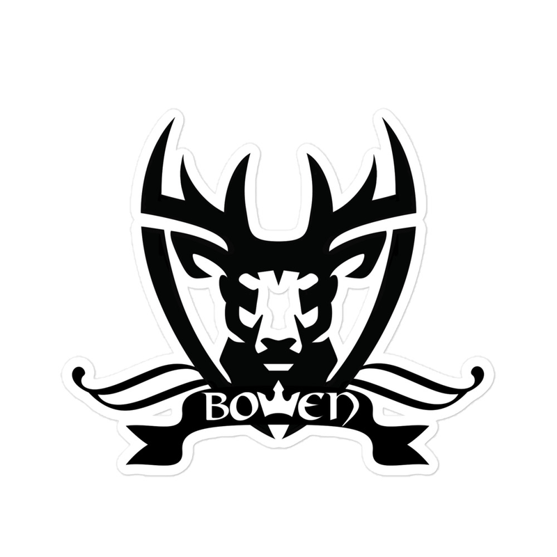 BOWEN Stag Logo Bubble-free stickers