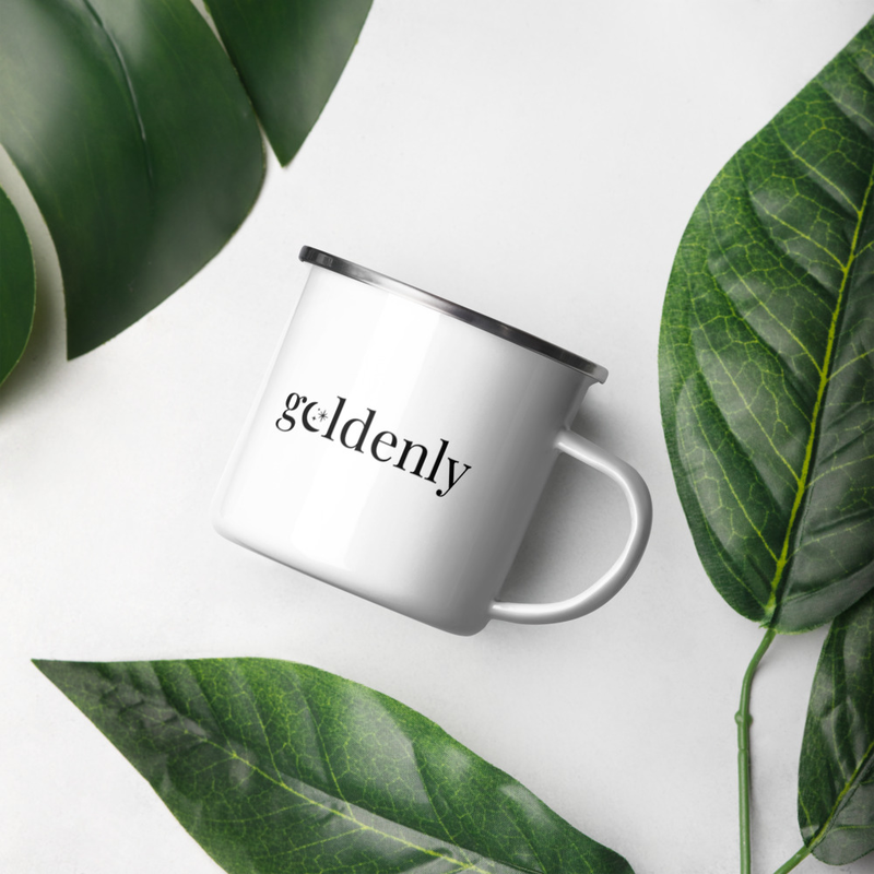Enamel Mug: Goldenly