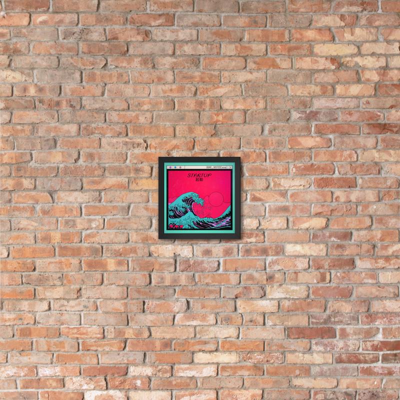 Framed Startup Cover Poster