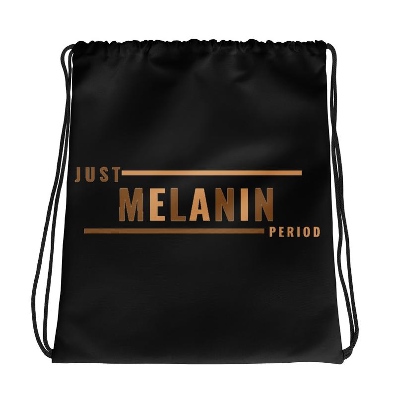 Just Melanin PERIOD Drawstring bag