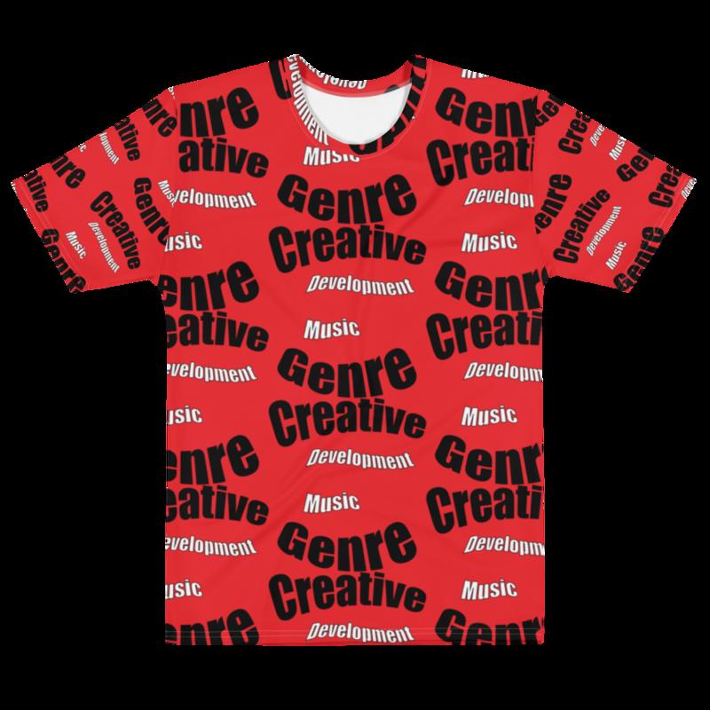 CDMG Men's T-shirt Creative- Development Muzik Genre/Red