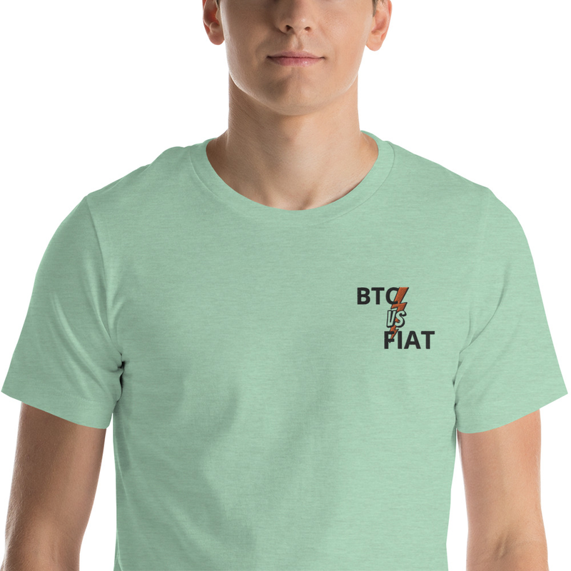 BTC VS FIAT Badge Short-Sleeve Unisex T-Shirt