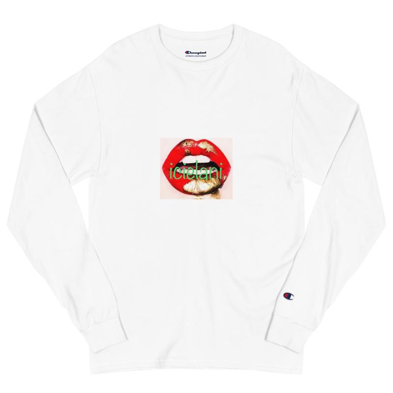 Champion x Icielani lipstick stain kiss Long Sleeve Shirt