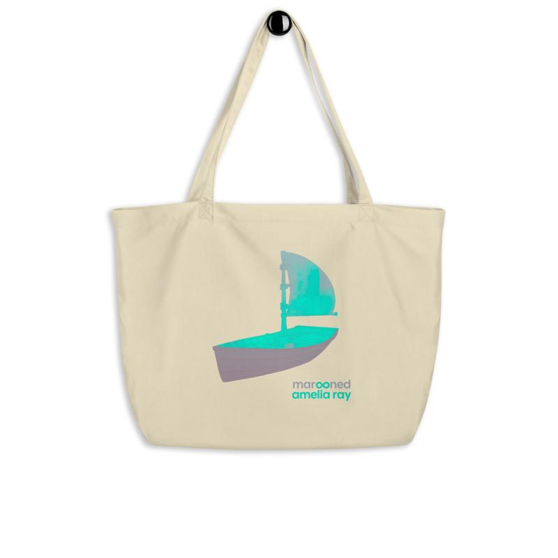 """""""Marooned"""" Large organic tote bag"""