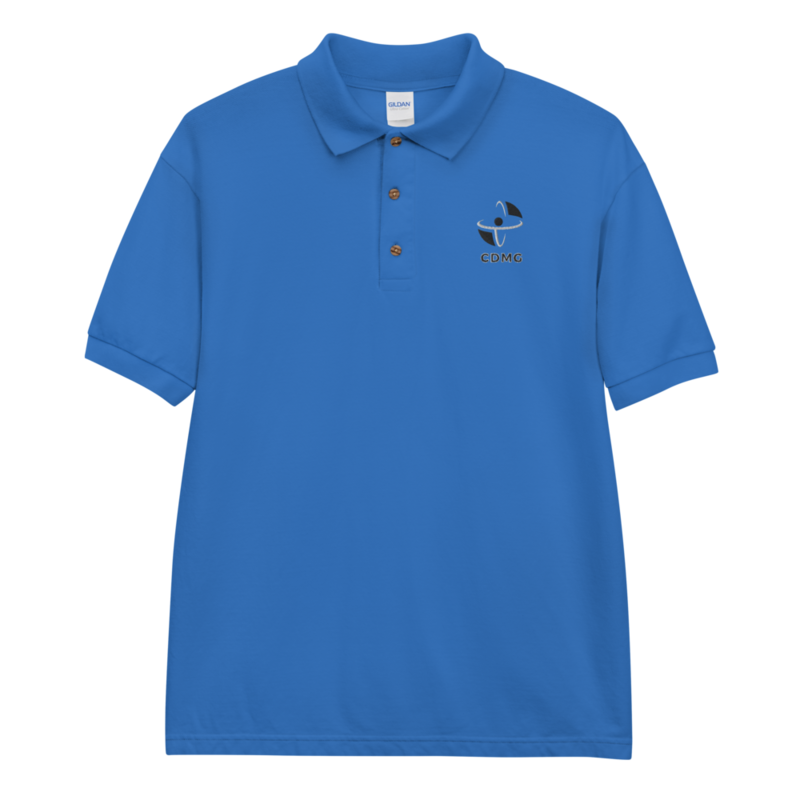 CDMG Classic Polo Shirt/Red/Blue/Gray