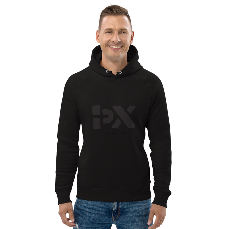 Unisex pullover hoodie Black BPX