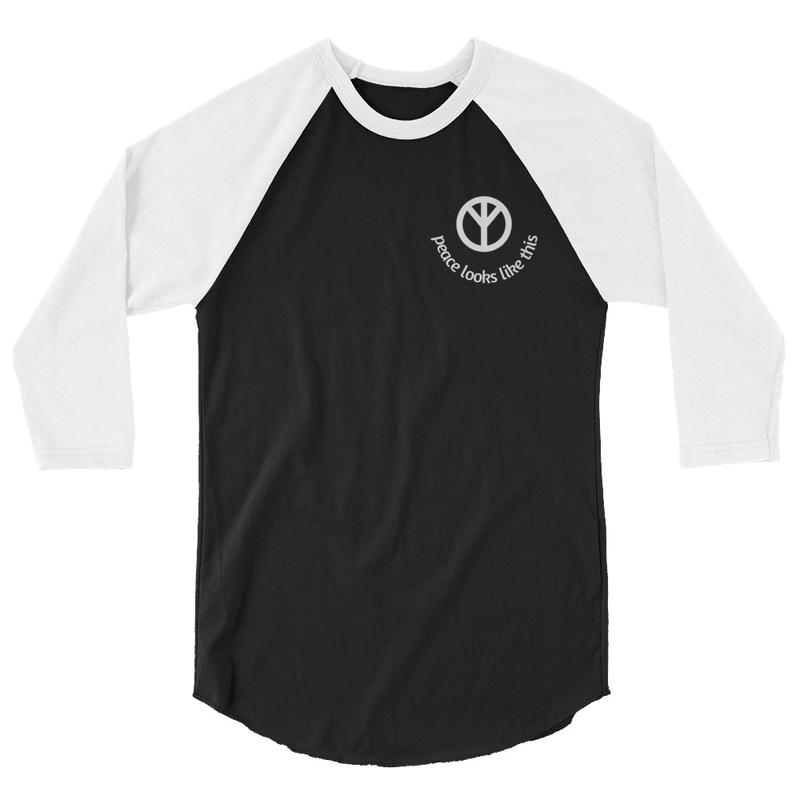3/4 sleeve raglan peace looks like this shirt