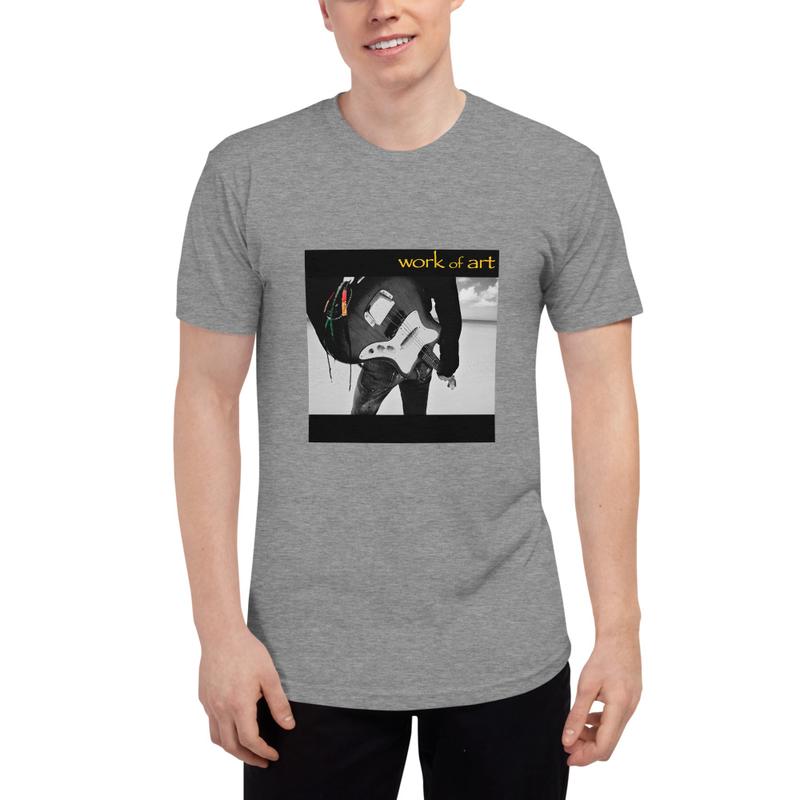 Unisex Tri-Blend Track Shirt / Work of Art / Beach Guitar