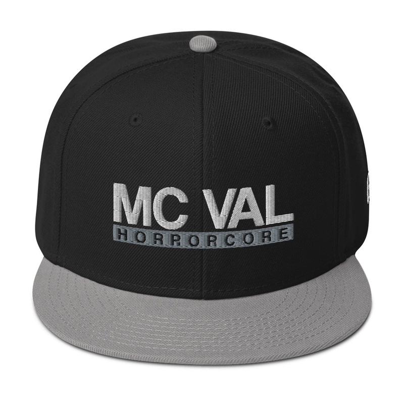 "MC Val ""Horrorcore"" Snapback Hat (GRE Logo on Left Side)"