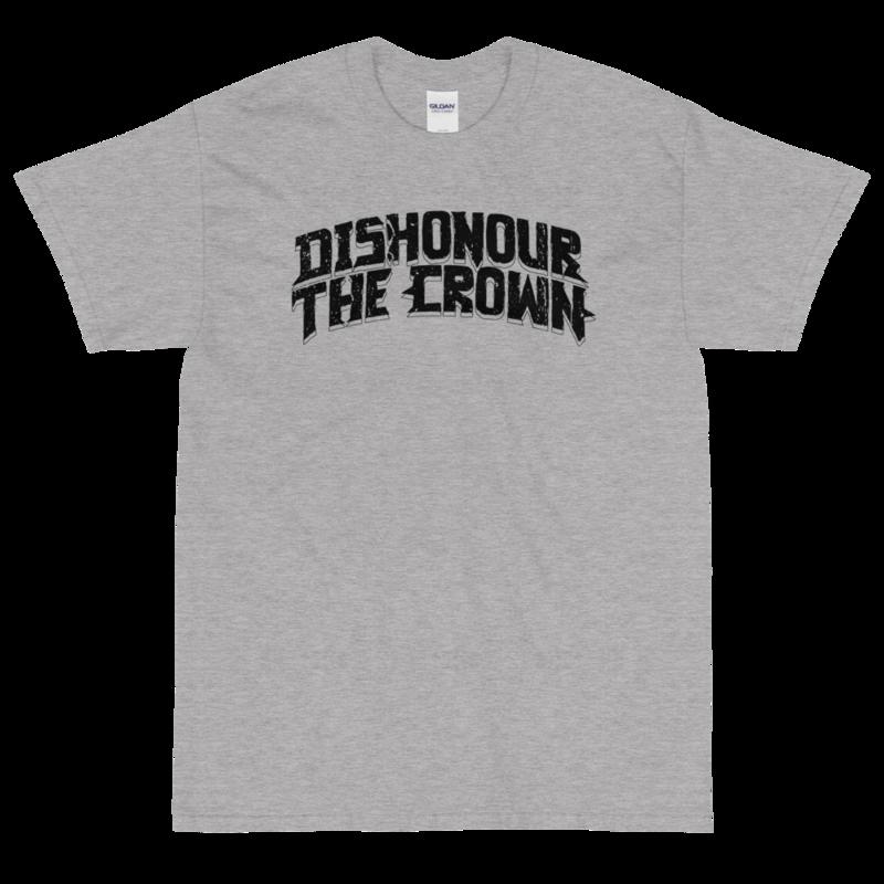 Dishonour The Crown logo T - Grey