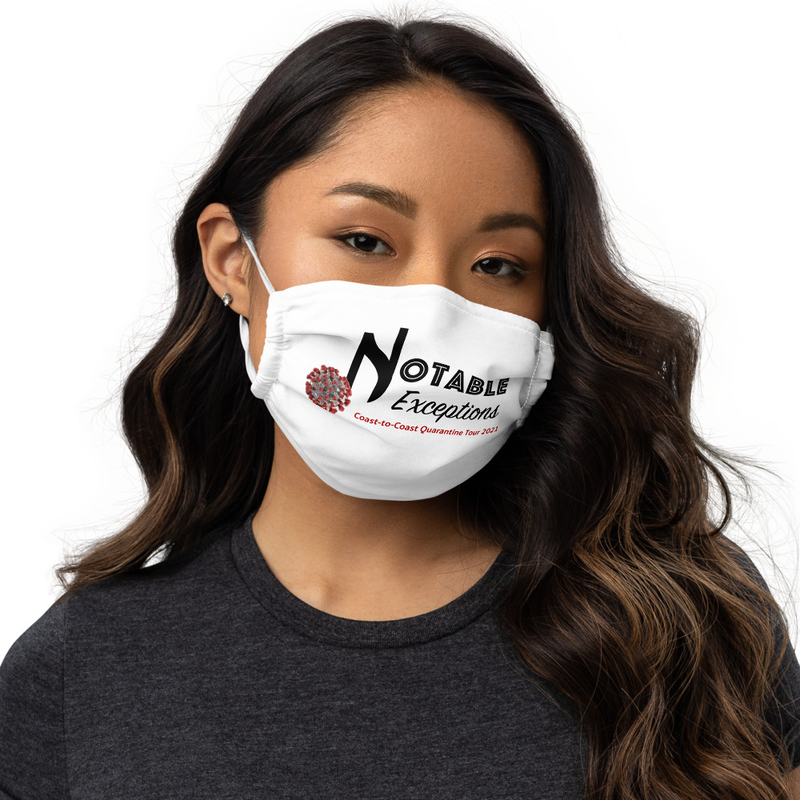 Quarantine Tour face mask with filter pocket