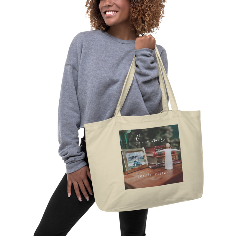 Large Organic Tote Bag - Home