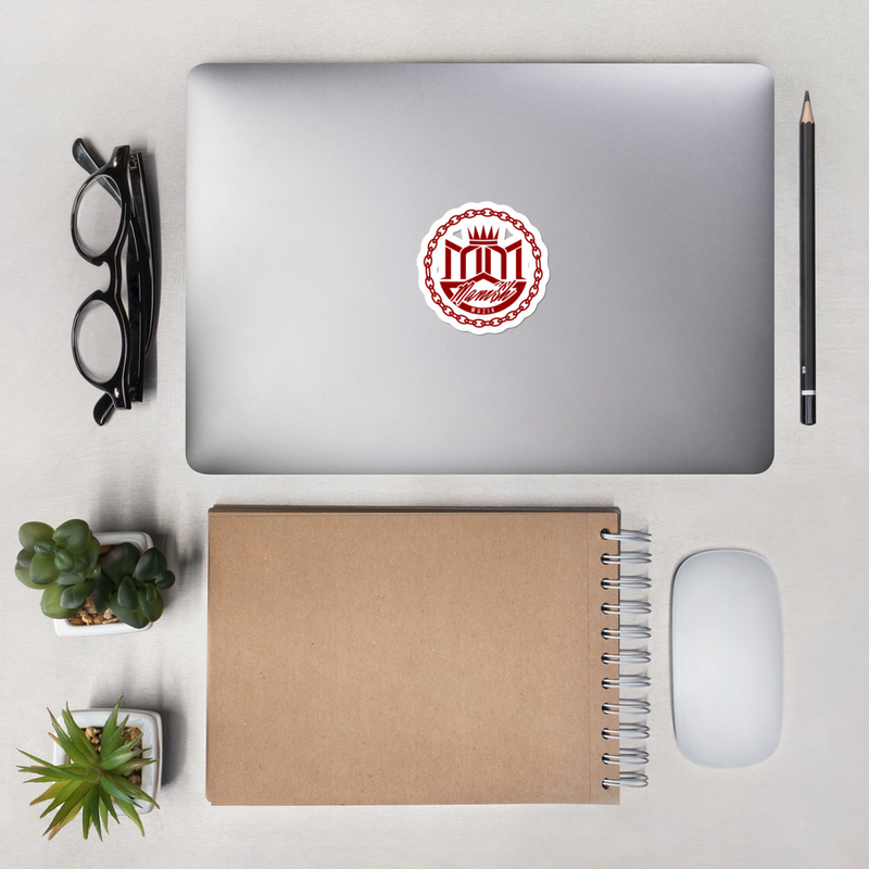 Bubble-free stickers - Red MANi$H Muzik Logo