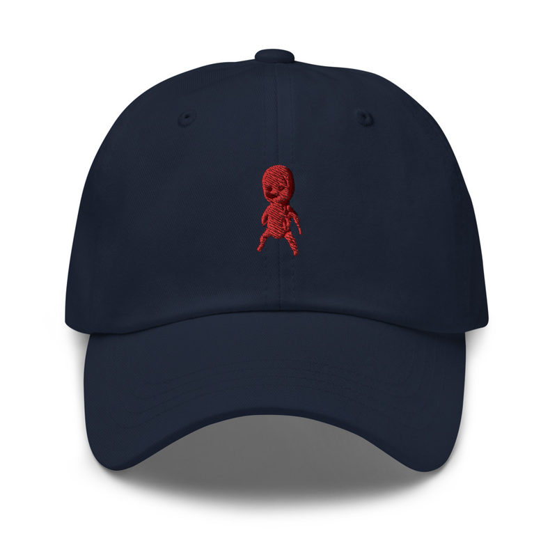 Classic cap with embroidered doll