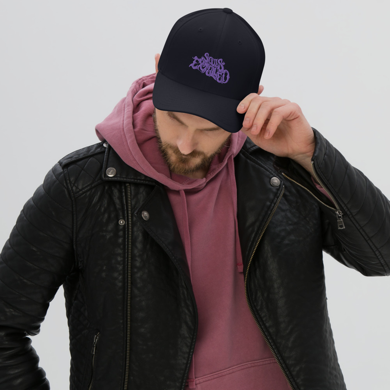 Souls Extolled Curved Bill / Flex Fit Cap - Purple on Black