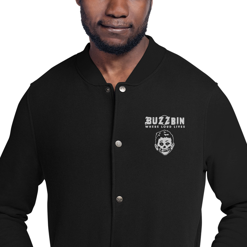 Buzzbin Embroidered Champion Bomber Jacket
