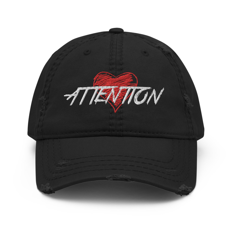ATTENTION Distressed Dad Hat