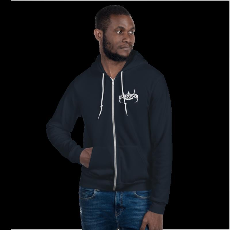 Heathensun Front & Back Zip Hoodie sweater
