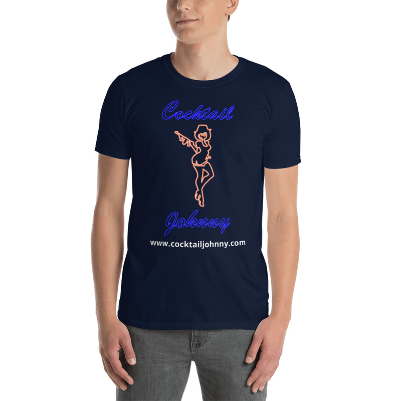 Cocktail Johnny T Shirt Logo 1 Side