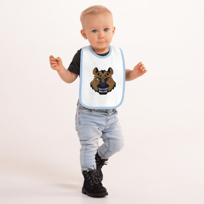Hyena Gang Embroidered Baby Bib