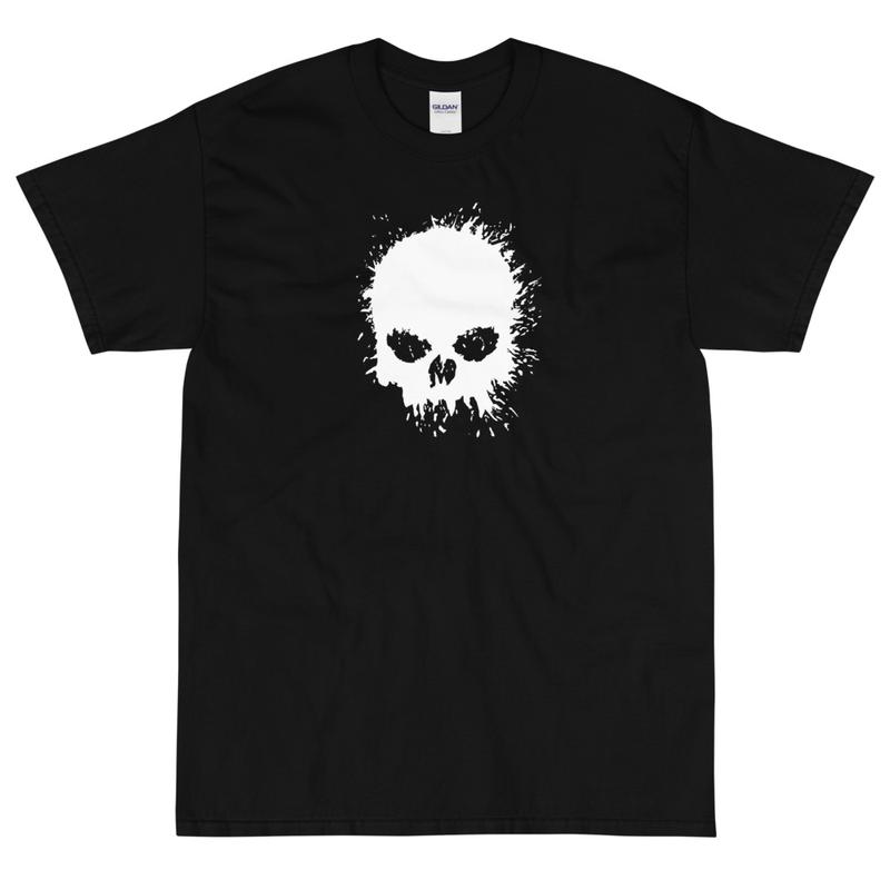 Magnavolt Black T-Shirt with Splatter Skull