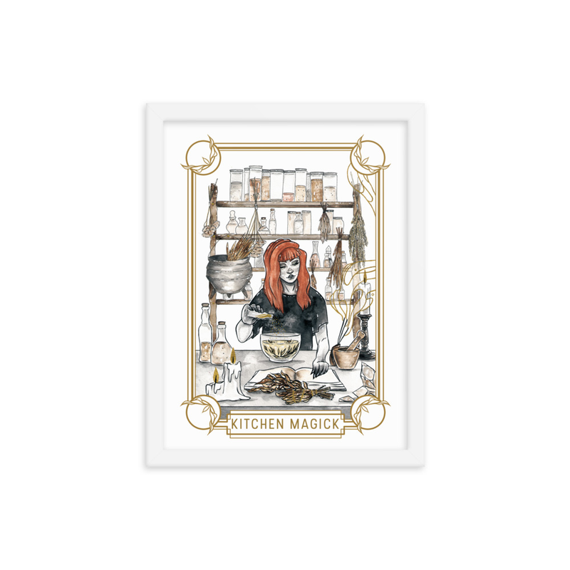 Kitchen Magick Framed poster