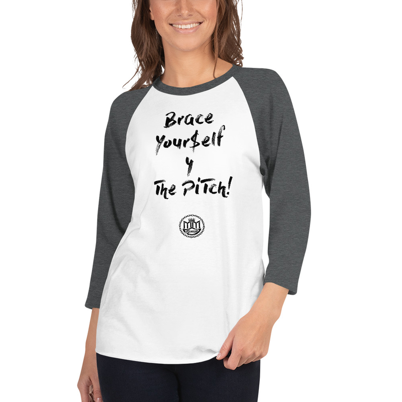 3/4 sleeve raglan shirt - black lettering