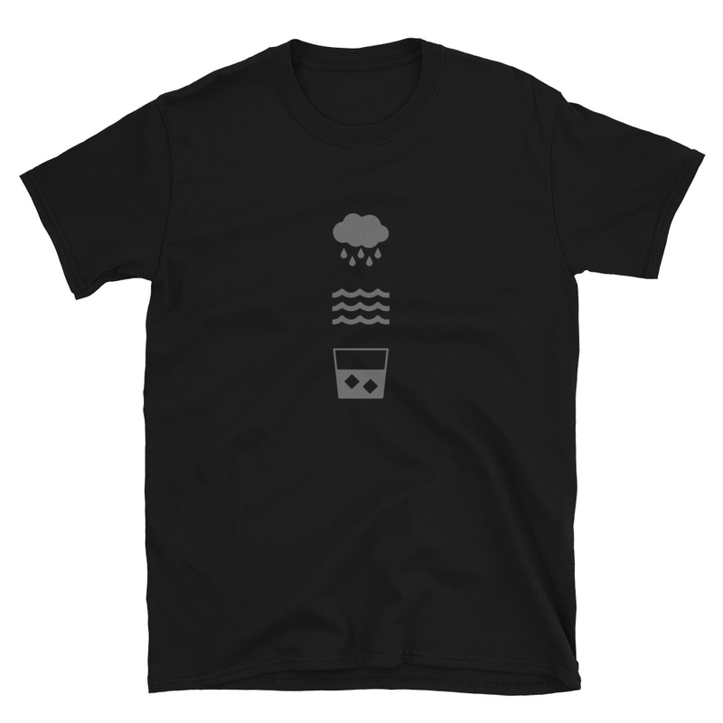 RWW Grey Icons Short-Sleeve Unisex T-Shirt - RWW Icons Logo (Front), RWW Logo (Back)