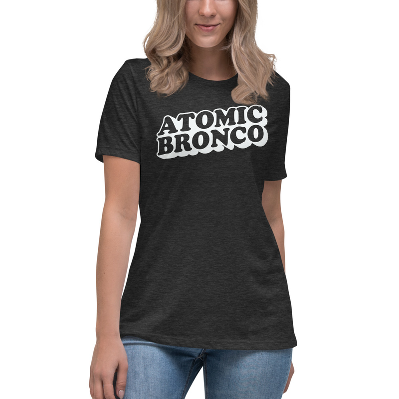 Atomic Bronco White Logo - Women's Relaxed T-Shirt
