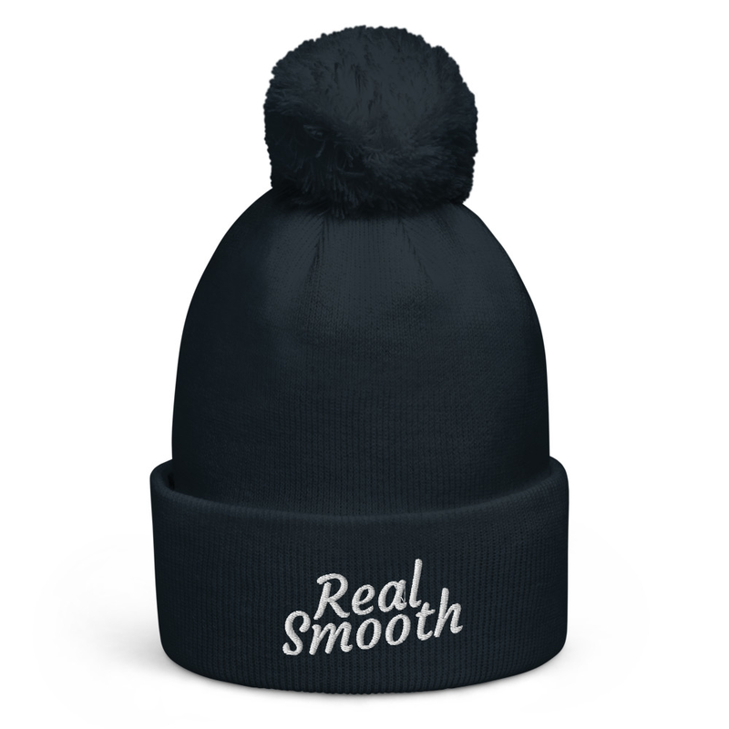 Real Smooth Logo - Pom-Pom Beanie