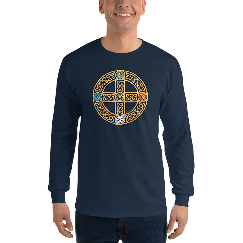 Solar Cross Men's Long Sleeve Shirt