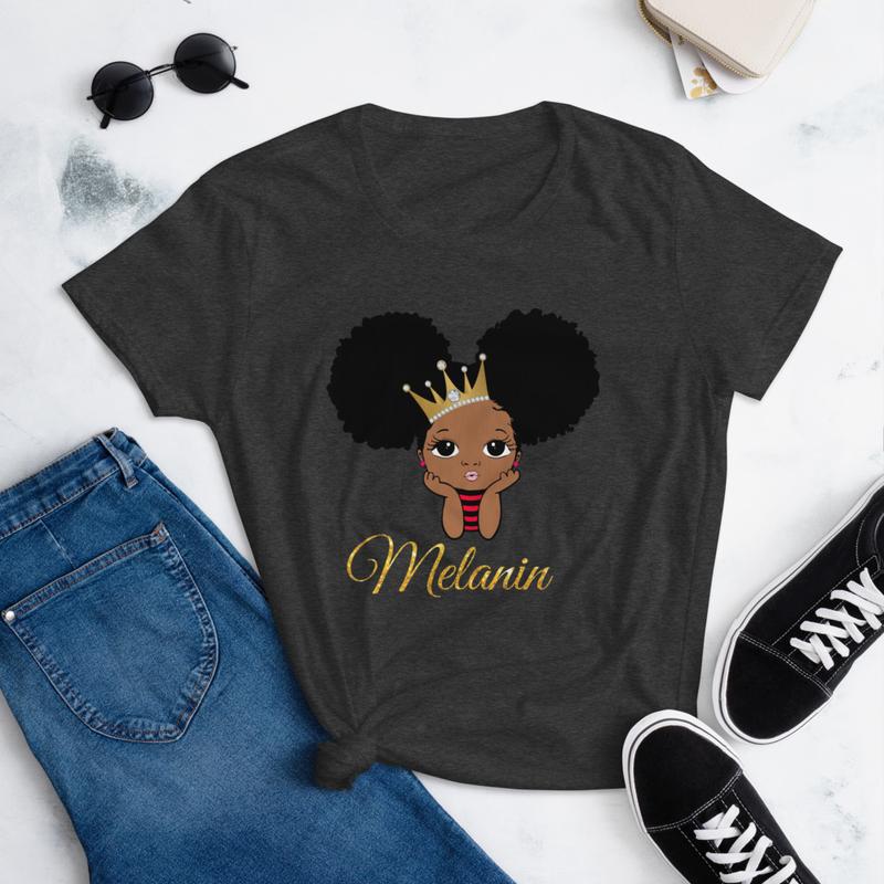 Princess Melanin Women's short sleeve t-shirt