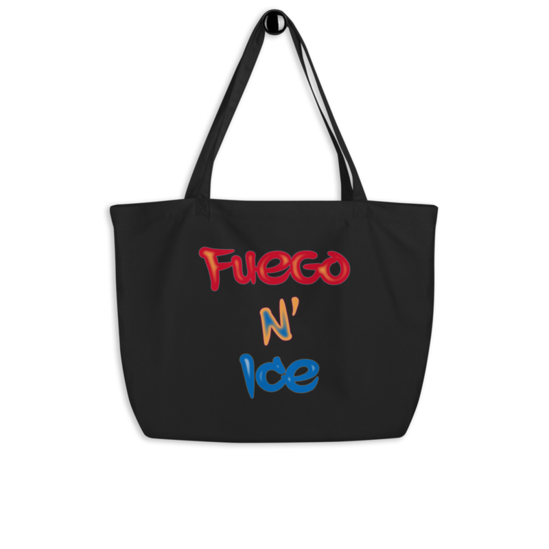"""""""Fuego N' Ice"""" - Large Eco Tote Bag - Double-sided"""