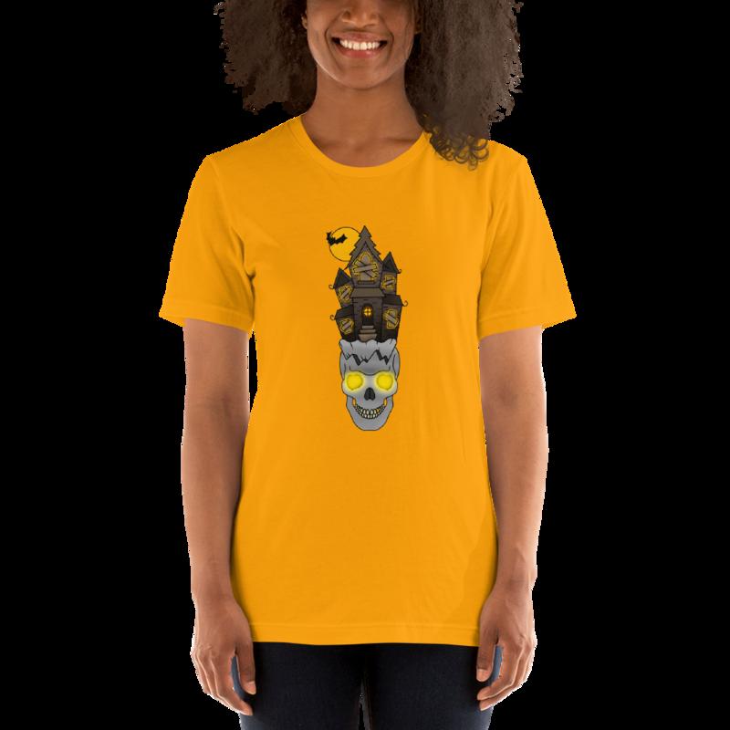 Haunted Short-Sleeve Unisex T-Shirt by Alaska Greyy