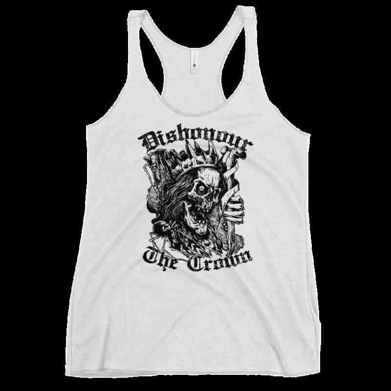 King Skull Women's Tank - Vintage White