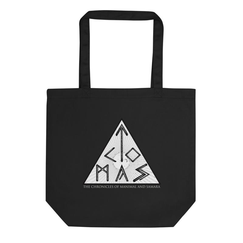 The Chronicles of Manimal and Samara 'TCOMAS Logo' Eco Tote Bag | Econscious EC8000