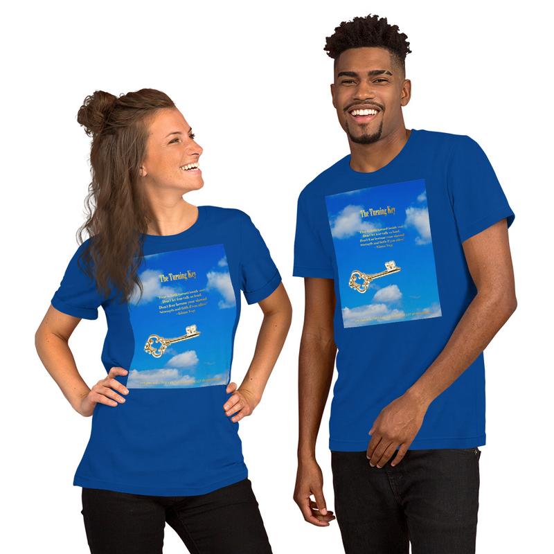The Turning Key Blue Short-Sleeve Unisex T-Shirt