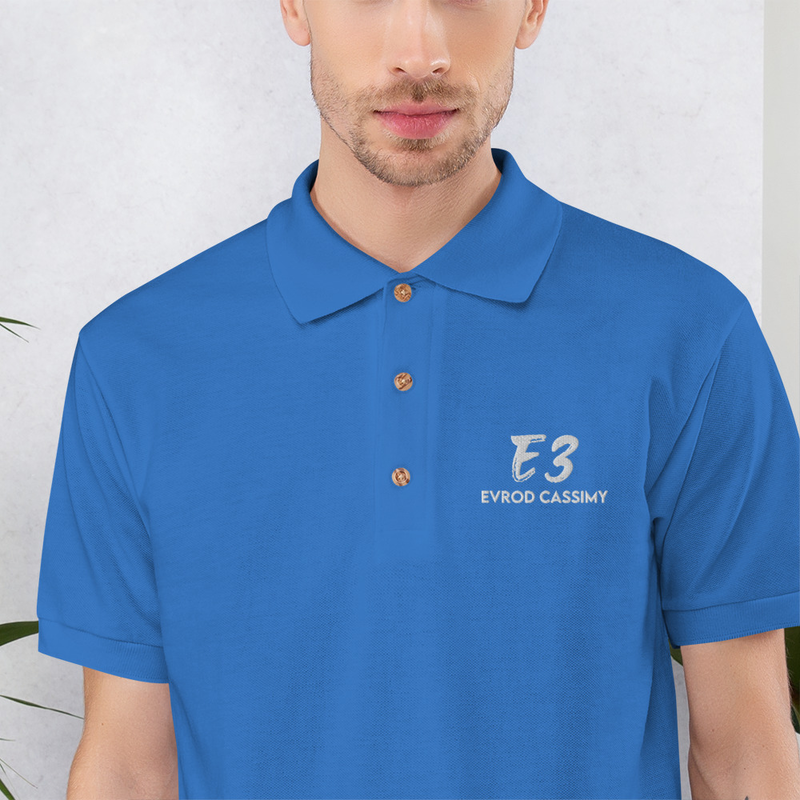 Embroidered E3 Polo Shirt