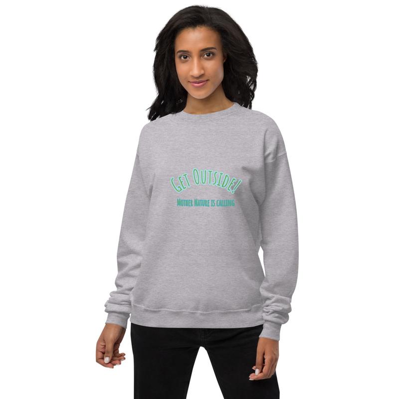 Unisex Get Outside! fleece sweatshirt