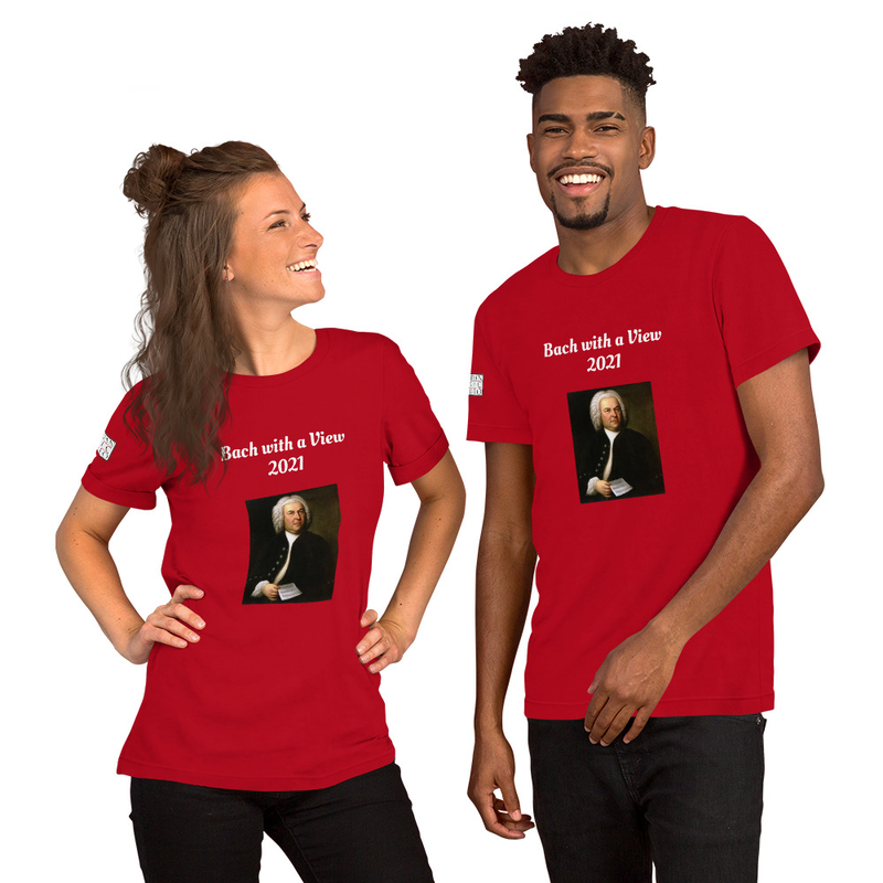 Short-Sleeve Unisex T-Shirt- Bach with a View 2021