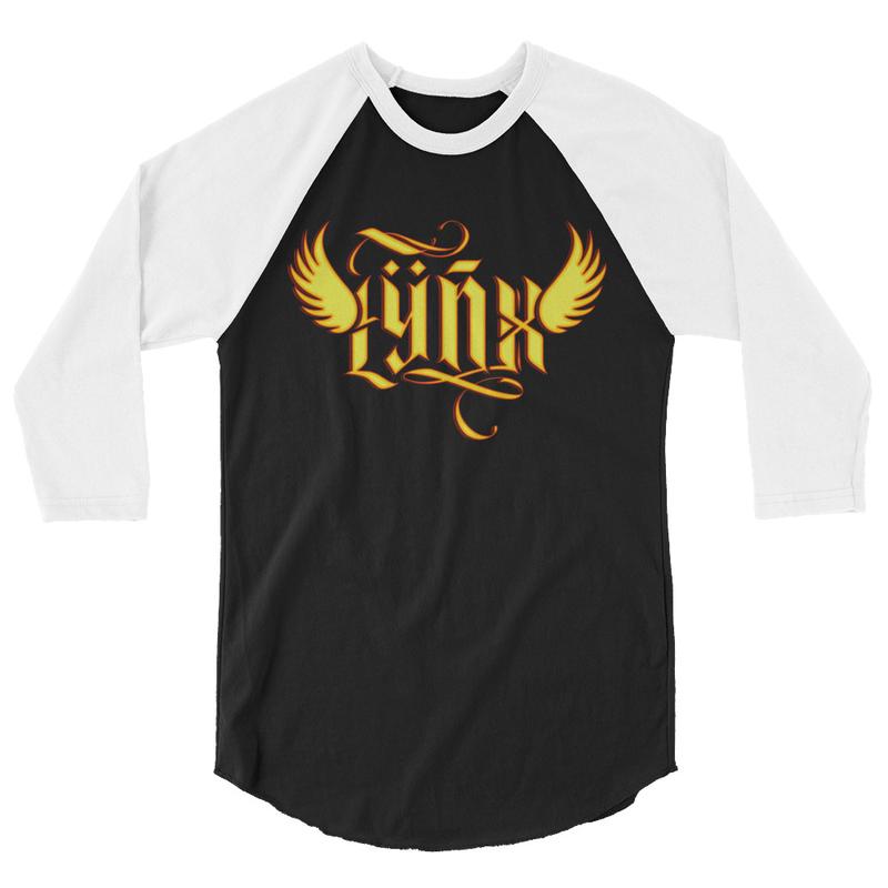 Lÿnx 3/4 sleeve Unisex raglan shirt