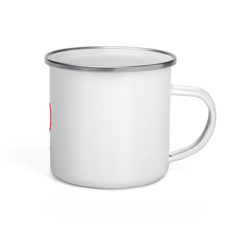 Enamel Mug Cowboy Logo