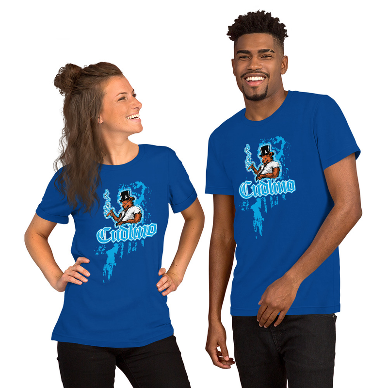 Cudlino Dripping Paint Logo - Short-Sleeve Unisex Bella T-Shirt